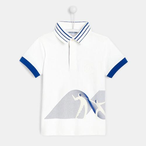 Boy polo shirt with fencer