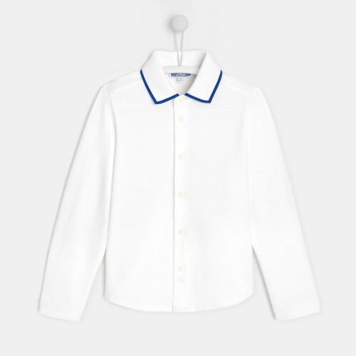 Boy button-down polo-style shirt