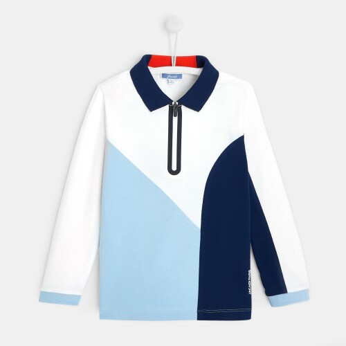 Boy color-block polo shirt