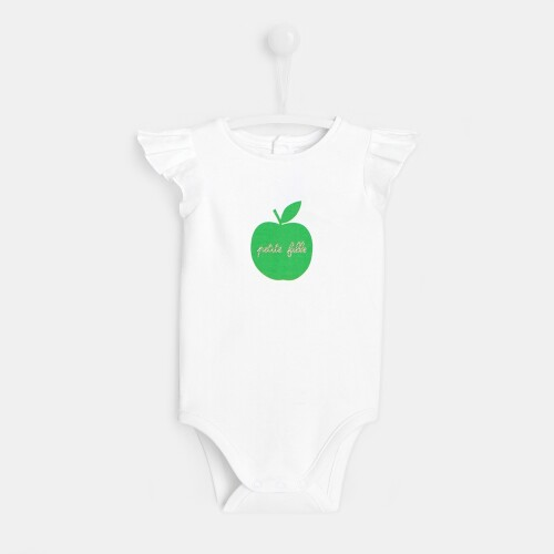 Baby girl bodysuit with apple motif