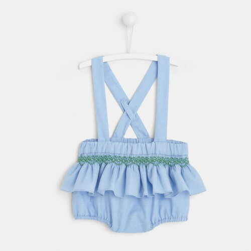 Baby girl bloomers with suspenders