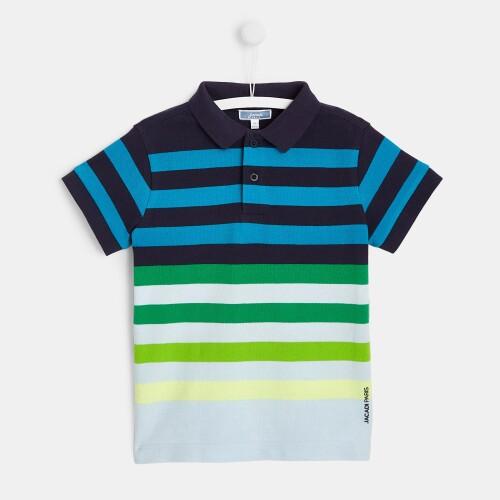 Boy striped polo