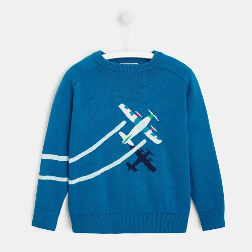 Boy sweatshirt with airplanes