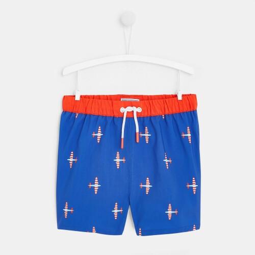 Boy swim trunks with airplanes