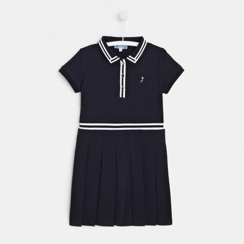 Girl cotton piqué dress