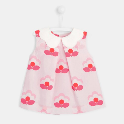 Toddler girl blouse with lily pad motif