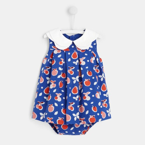 Baby girl dress with fruit motif