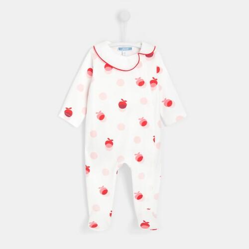 Baby girl polka dot footed pajamas