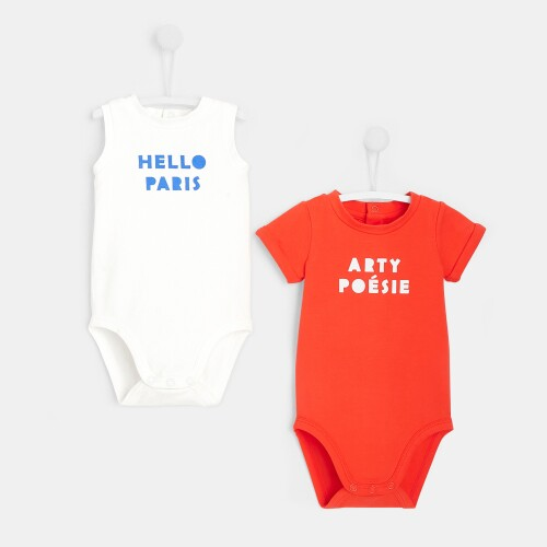 Set of two baby bodysuits