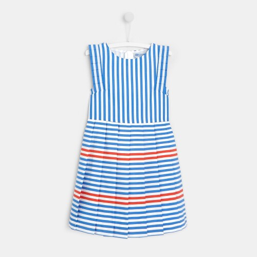 Girl dress with pleated skirt