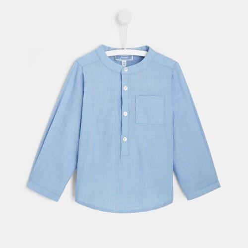 Toddler boy high collar shirt