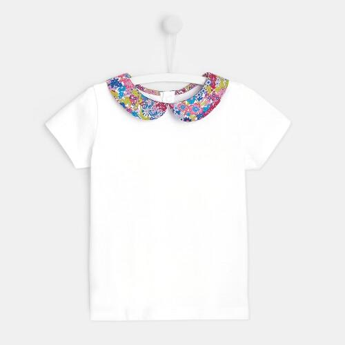 Girl t-shirt with Liberty collar
