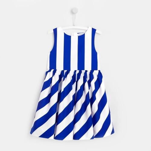 Girl striped formal dress