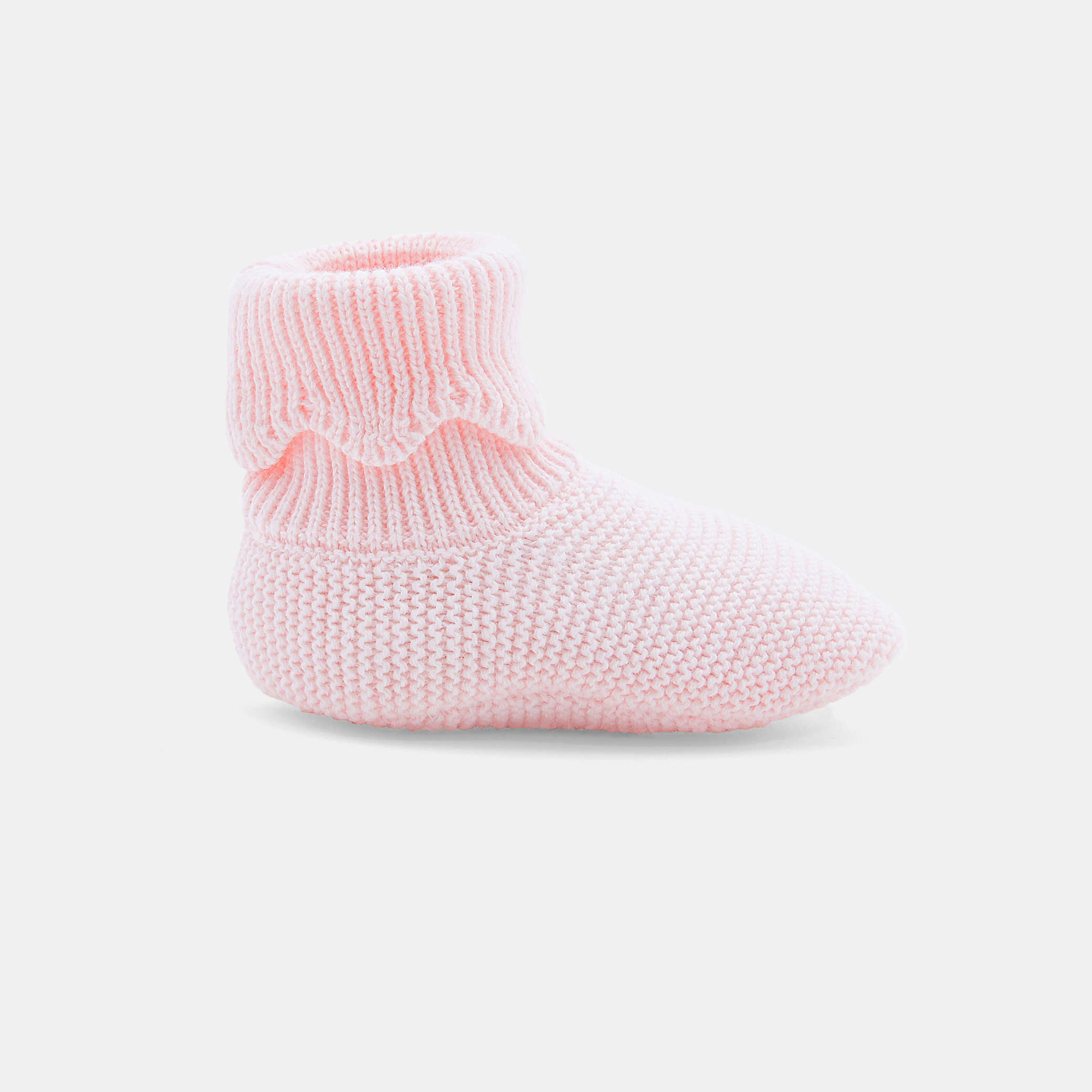 Baby girl knit booties