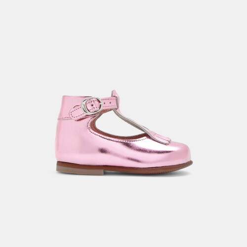 Baby girl fringed T-strap shoes