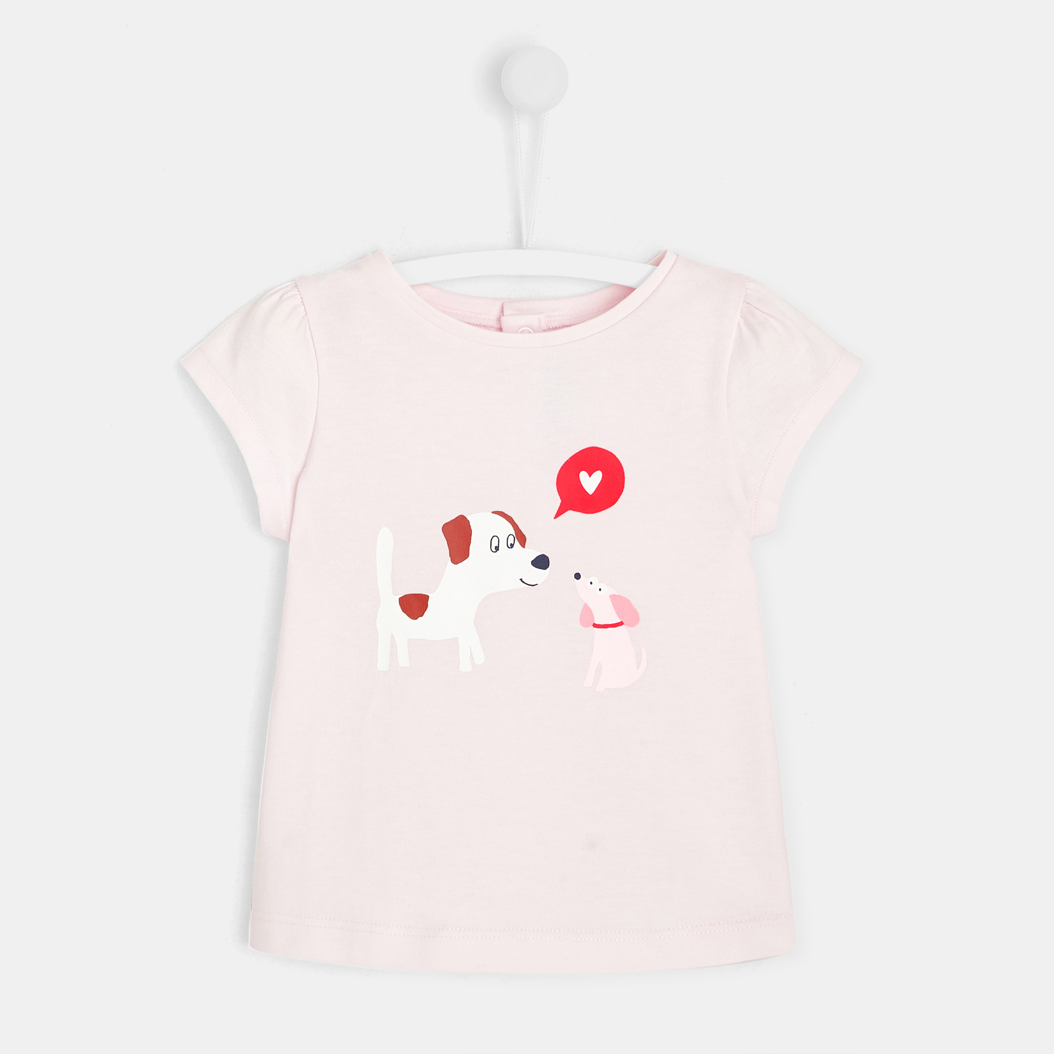 Toddler girl dog print T-shirt