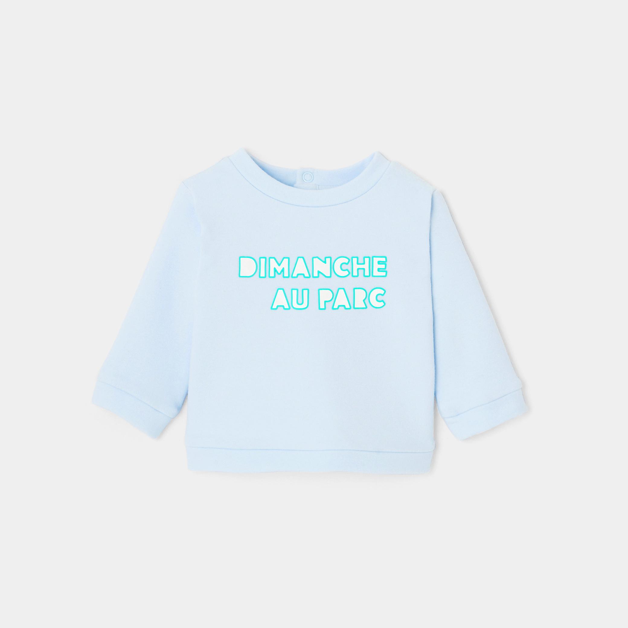 Baby boy slogan sweatshirt