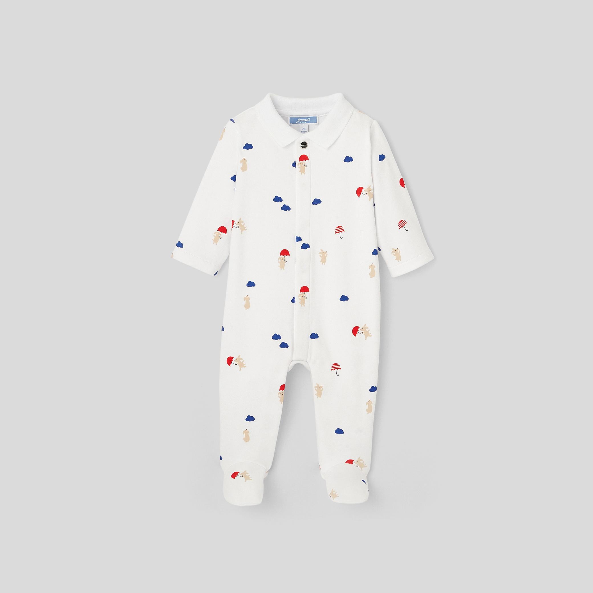 Baby boy printed footed pajamas